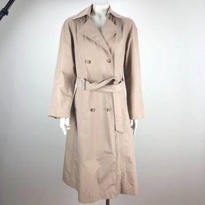 Orvis Gore Tex Spring Rain Trench Coat Khaki - 6